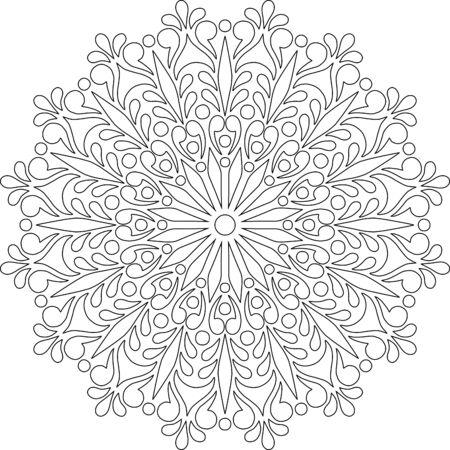 Figure mandala for coloring doodles sketch good mood Banque d'images - 138350952
