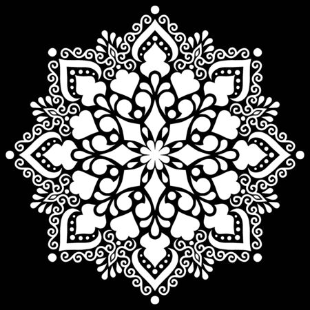 Pattern mandala white stencil doodles sketch good mood Ilustracje wektorowe