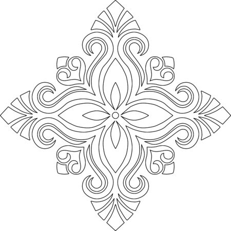 Cross for coloring. Suitable for decoration doodles sketch 版權商用圖片 - 143111574