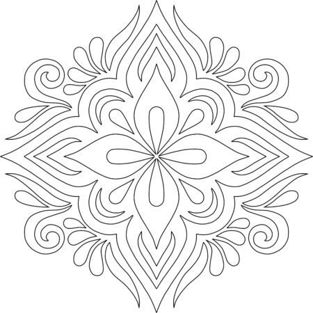 Cross for coloring. Suitable for decoration doodles sketch 版權商用圖片 - 143111576