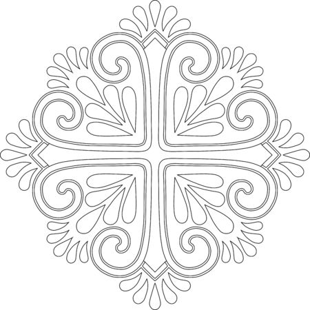 Cross for coloring. Suitable for decoration doodles sketch 版權商用圖片 - 143111578