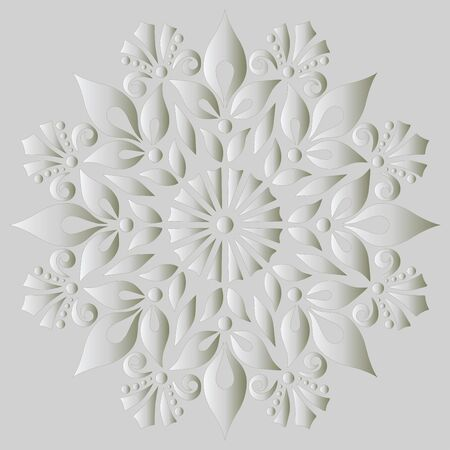 Mandala pattern white gradient good mood. Good for creative and greeting cards, posters, flyers, banners and covers.