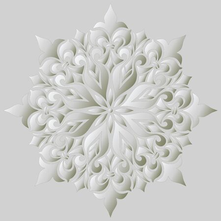 Mandala pattern white gradient good mood. Good for creative and greeting cards, posters, flyers, banners and covers. 版權商用圖片 - 143111581
