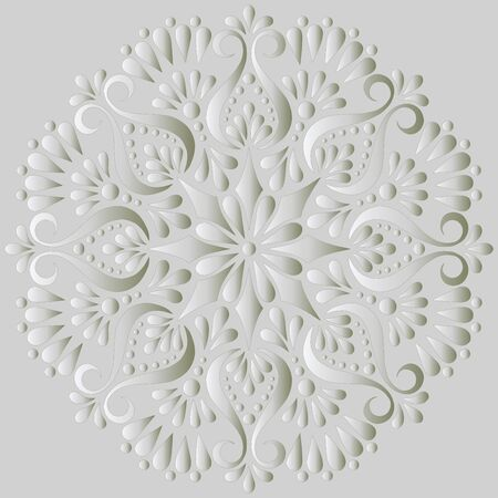 Mandala pattern white gradient good mood. Good for creative and greeting cards, posters, flyers, banners and covers. 版權商用圖片 - 143111582