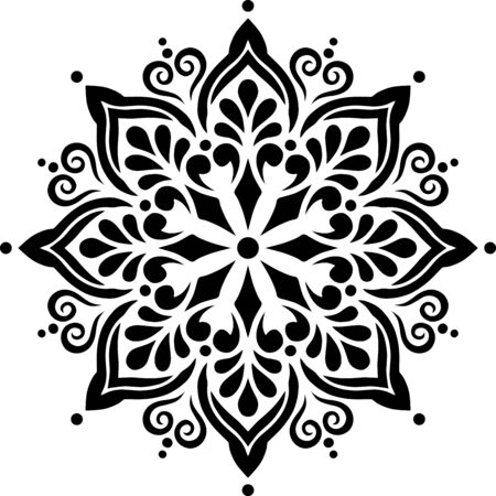 Mandala Pattern Stencil doodles sketch good mood 版權商用圖片 - 143111584