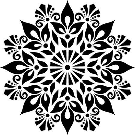 Mandala Pattern Stencil doodles sketch good mood 版權商用圖片 - 143111754