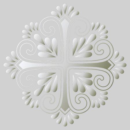 Cross doodle sketch gradient. Suitable for decoration. Religion 版權商用圖片 - 143111761