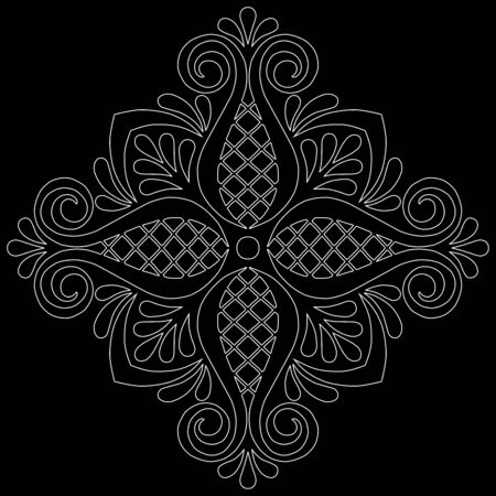 Cross doodle sketch black and white religion. Suitable for decoration 版權商用圖片 - 143111805