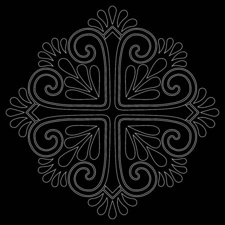 Cross doodle sketch black and white religion. Suitable for decoration 版權商用圖片 - 143111806