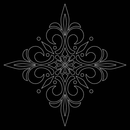 Cross doodle sketch black and white religion. Suitable for decoration