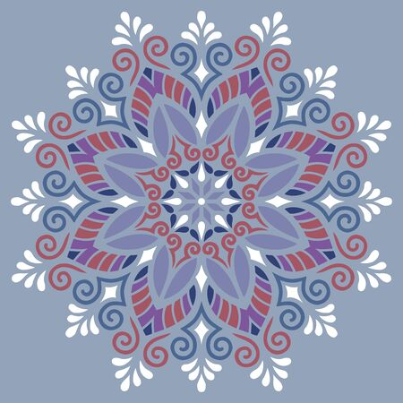 Mandala pattern color Stencil doodles sketch good mood. Good for creative and greeting cards, posters, flyers, banners and covers.