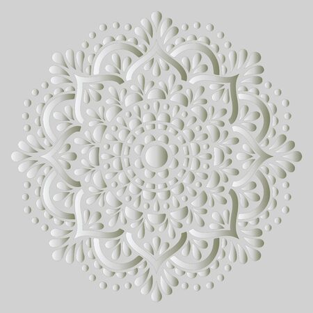 Mandala pattern white gradient good mood. Good for creative and greeting cards, posters, flyers, banners and covers Иллюстрация