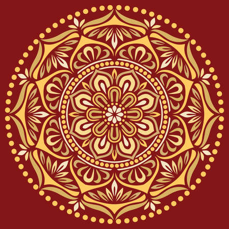 Mandala pattern color Stencil doodles sketch good mood. Good for creative and greeting cards, posters, flyers, banners and covers