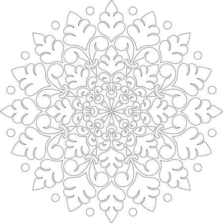 Figure mandala for coloring doodles sketch good mood Banco de Imagens - 154449623