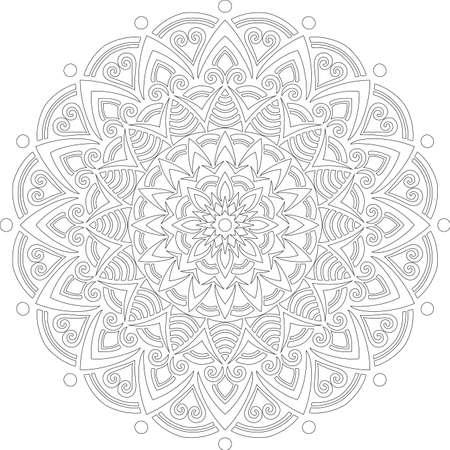 Figure mandala for coloring doodles sketch good mood Banco de Imagens - 154449626