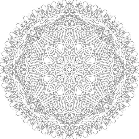 Figure mandala for coloring doodles sketch good mood Banco de Imagens - 154449628