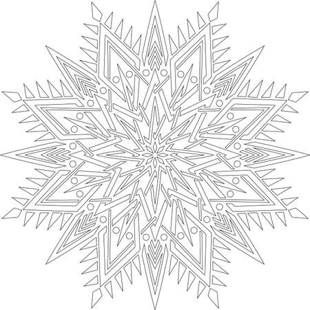 Figure mandala for coloring doodles sketch good mood Banco de Imagens - 154449633