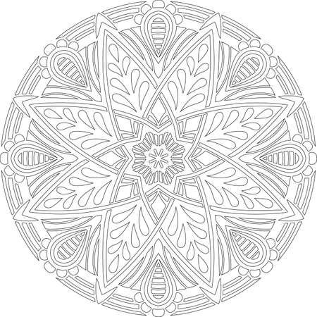 Figure mandala for coloring doodles sketch good mood Banco de Imagens - 154449634