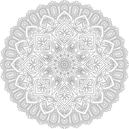 Figure mandala for coloring doodles sketch good mood Banco de Imagens - 154449636