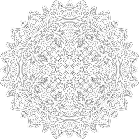 Figure mandala for coloring doodles sketch good mood Banco de Imagens - 154449640