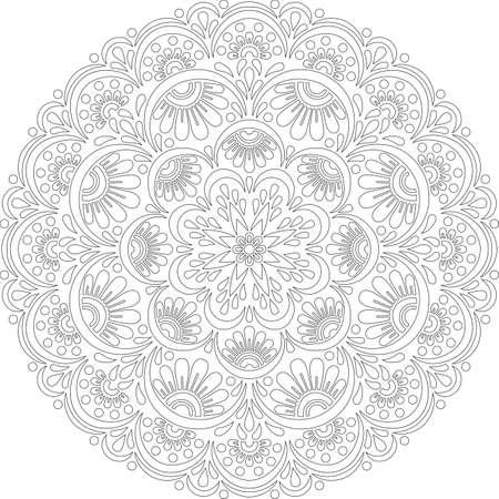 Figure mandala for coloring doodles sketch good mood Banco de Imagens - 154449641