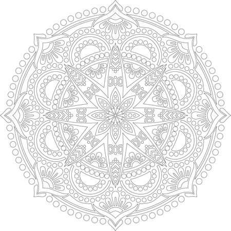 Figure mandala for coloring doodles sketch good mood Banco de Imagens - 154449643