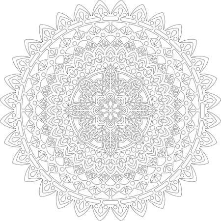 Figure mandala for coloring doodles sketch good mood Banco de Imagens - 154449644