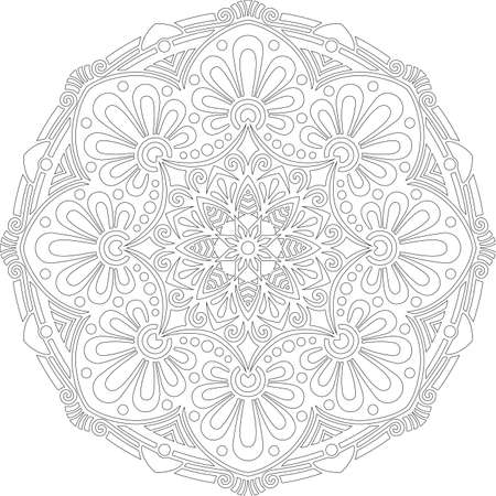 Figure mandala for coloring doodles sketch good mood Banco de Imagens - 154449646