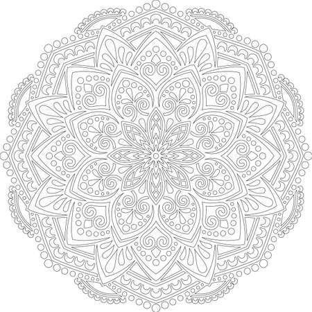 Figure mandala for coloring doodles sketch good mood Banco de Imagens - 154449647