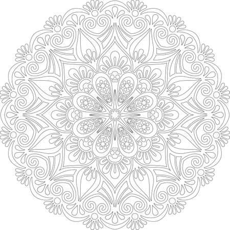 Figure mandala for coloring doodles sketch good mood Banco de Imagens - 154449649