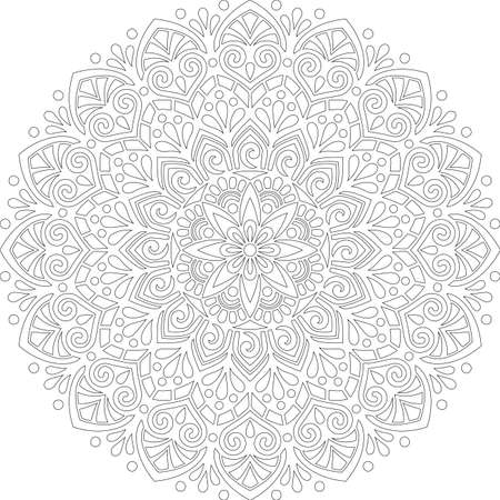 Figure mandala for coloring doodles sketch good mood Banco de Imagens - 154449650
