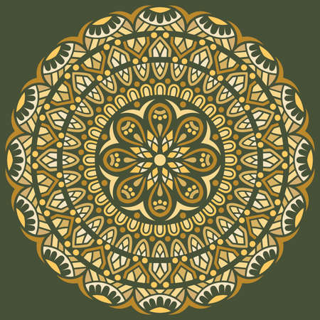 Mandala pattern color Stencil doodles sketch good mood. Good for creative and greeting cards, posters, flyers, banners and covers Banco de Imagens - 154449670