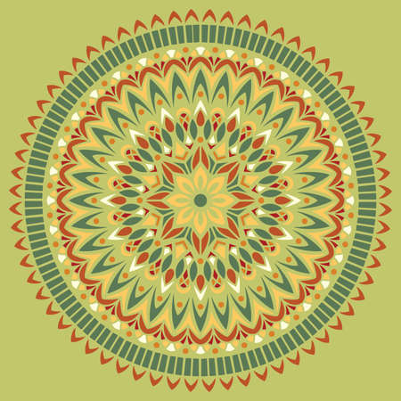 Mandala pattern color Stencil doodles sketch good mood. Good for creative and greeting cards, posters, flyers, banners and covers Banco de Imagens - 154449672