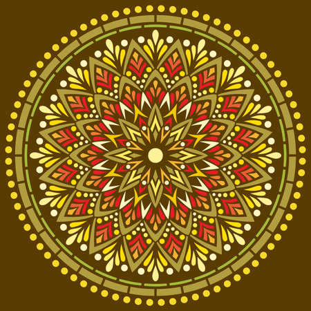Mandala pattern color Stencil doodles sketch good mood. Good for creative and greeting cards, posters, flyers, banners and covers Banco de Imagens - 154449674