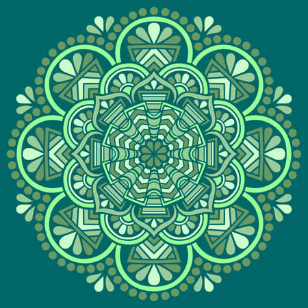Mandala pattern color Stencil doodles sketch good mood. Good for creative and greeting cards, posters, flyers, banners and covers Banco de Imagens - 154449676