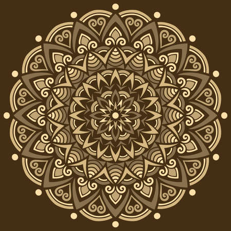 Mandala pattern color Stencil doodles sketch good mood. Good for creative and greeting cards, posters, flyers, banners and covers Banco de Imagens - 154449680