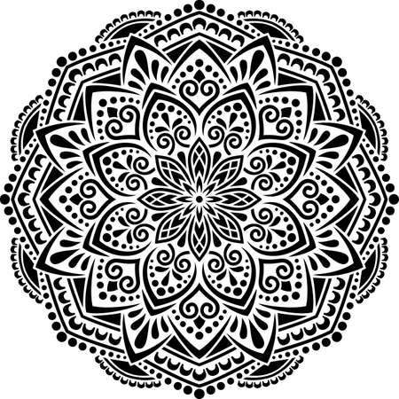 Mandala Pattern Stencil doodles sketch good mood Banco de Imagens - 154550532