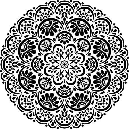 Mandala Pattern Stencil doodles sketch good mood Banco de Imagens - 154550533