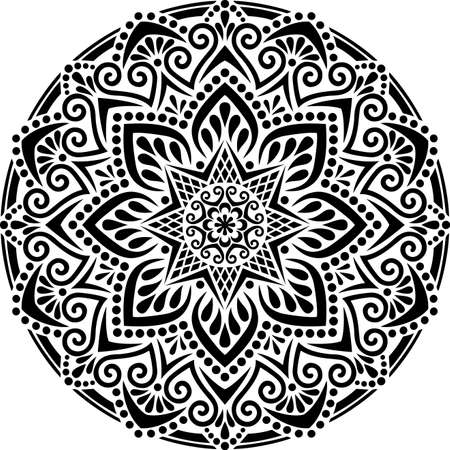 Mandala Pattern Stencil doodles sketch good mood Banco de Imagens - 154550534
