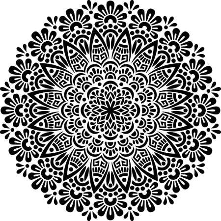 Mandala Pattern Stencil doodles sketch good mood Banco de Imagens - 154550535
