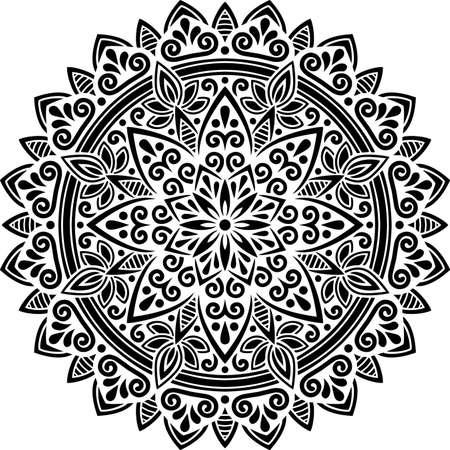 Mandala Pattern Stencil doodles sketch good mood Banco de Imagens - 154550536