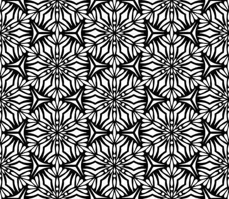 Abstract patterns seamless black and white doodle Sketch. Good for creative and greeting cards, posters, flyers, banners and covers Banco de Imagens - 154651240