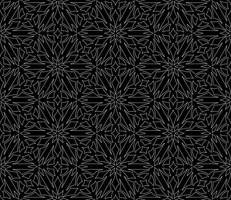 Abstract geometric pattern White contour Seamless doodle Sketch Good for creative and greeting cards, posters, flyers, banners and covers Banco de Imagens - 154651258