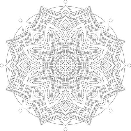 Figure mandala for coloring doodles sketch good mood Banco de Imagens - 155290735