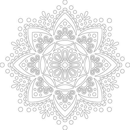 Figure mandala for coloring doodles sketch good mood Banco de Imagens - 155292819