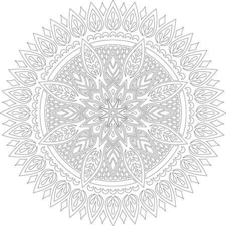Figure mandala for coloring doodles sketch good mood Banco de Imagens - 155294887