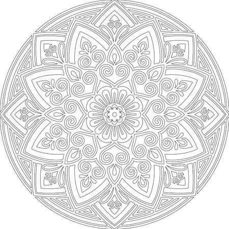 Figure mandala for coloring doodles sketch good mood Stock fotó - 155860628