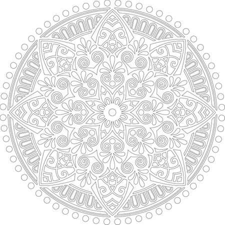 Figure mandala for coloring doodles sketch good mood Stock fotó - 155861692