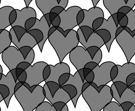 Abstract patterns seamless black and white doodle Sketch. Good for creative and greeting cards, posters, flyers, banners and covers Ilustração