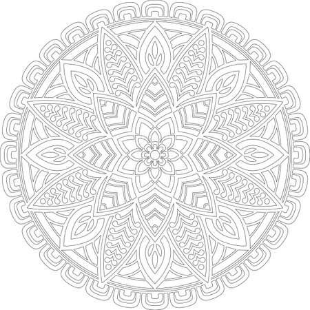 Figure mandala for coloring doodles sketch good mood Ilustração
